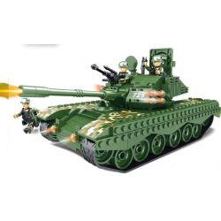 WOMA C0725 0725 Xếp hình kiểu Lego MILITARY ARMY 99 Main Battle Tanks Xe tăng chủ lực 587 khối
