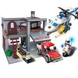 Xinlexin Gudi 9318 (NOT Lego City Police Helicopter Chasing ) Xếp hình Trực Thăng Cảnh Sát Truy Bắt Cướp 465 khối