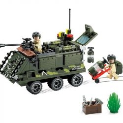 Enlighten 814 (NOT Lego Military Army Armored Car ) Xếp hình Xe Bọc Thép Nhỏ 167 khối
