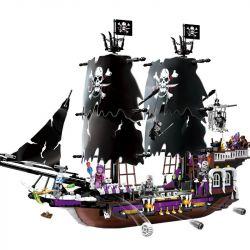Enlighten 1313 Qman 1313 Xếp hình kiểu Lego PIRATES OF THE CARIBBEAN Legendary Pirates Legendary Pirate Black Will Be Pirate Ship Thuyền Cướp Biển đen 1513 khối