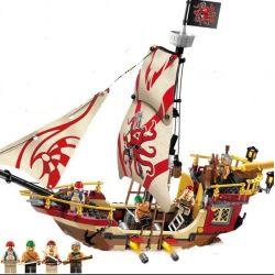 Enlighten 1311 Qman 1311 Xếp hình kiểu Lego PIRATES OF THE CARIBBEAN Legendary Pirate Plunder Number Thuyền Cướp Biển Bạch Tuộc 368 khối