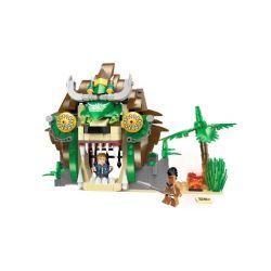 Enlighten 1308 Qman 1308 Xếp hình kiểu Lego PIRATES OF THE CARIBBEAN Legendary Pirates Legendary Pirate Lion Prison Nhà Tù Sư Tử 328 khối