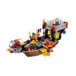 Enlighten 1307 Qman 1307 Xếp hình kiểu Lego PIRATES OF THE CARIBBEAN Legendary Pirates Legendary Pirate Ocean Tàu Con Trai Của Biển Cả 345 khối