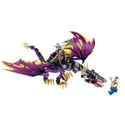 Enlighten 1306 Qman 1306 Xếp hình kiểu Lego PIRATES OF THE CARIBBEAN Legendary Pirates Legendary Pirate Denglong Flying Dragon Rồng Ma 247 khối