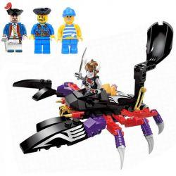 Enlighten 1303 Qman 1303 Xếp hình kiểu Lego PIRATES OF THE CARIBBEAN Legendary Pirates Legendary Pirate Horror Giant Cỗ Xe Bọ Cạp 147 khối