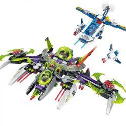Enlighten 1617 Qman 1617 Xếp hình kiểu Lego SPACE ADVENTURE Space Adventure Arrest Alien Commander Starial Adventure Evergreen Commander Đuổi Bắt Chỉ Huy Người Ngoài Hành Tinh 704 khối