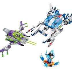 Enlighten 1616 Qman 1616 Xếp hình kiểu Lego SPACE ADVENTURE Space Adventure Alien Jet Assault Starial Adventure Star Encounter Ngăn Chặn Phi Thuyền Sát Thủ Người Ngoài Hành Tinh 517 khối
