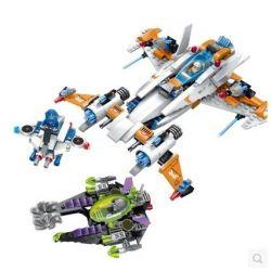 Enlighten 1615 Qman 1615 Xếp hình kiểu Lego SPACE ADVENTURE Space Adventure Chase Destroyer Starial Adventure Pursuit Of Destruction Đuổi Bắt Tàu Hủy Diệt 478 khối