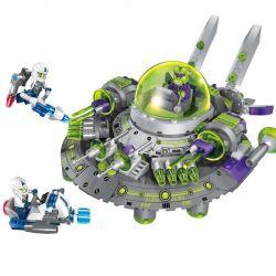 Enlighten 1611 Qman 1611 Xếp hình kiểu Lego SPACE ADVENTURE Space Adventure Intercept Alien Cruiser Starial Adventure Intercepting Alcohol Ngăn Chặn Phi Thuyền Ngoài Hành Tinh 339 khối