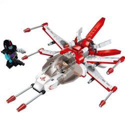 Enlighten 1610 Qman 1610 Xếp hình kiểu Lego SPACE ADVENTURE Space Adventure Fighting Falcon Starial Adventure Wardi Attack Machine Phi Thuyền Chim ưng đỏ 207 khối