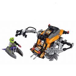 Enlighten 1609 Qman 1609 Xếp hình kiểu Lego SPACE ADVENTURE Space Adventure Mining Ship Attacked Starial Adventure Mining Boat Ngăn Chặn Mô Tô Bay Của Người Ngoài Hành Tinh 224 khối