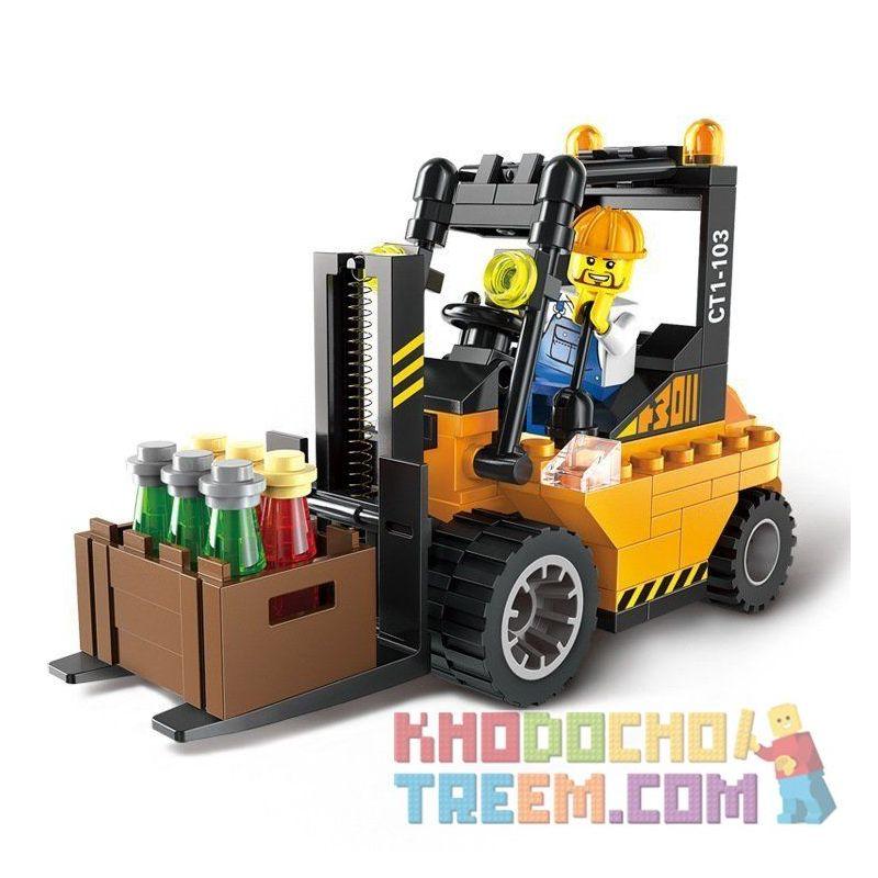 Enlighten 1103 (NOT Lego City Heavy Forklift ) Xếp hình Xe Nâng Hàng 115 khối