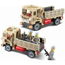 Kazi KY84027 84027 Xếp hình kiểu Lego FIELD ARMY Field Troops 386 Infantry Group Xe Tải Chở Quân 183 khối