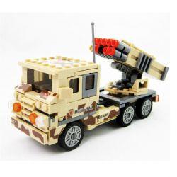 Kazi KY84025 84025 Xếp hình kiểu Lego FIELD ARMY Field Troops Air Defense Missile Car Tên Lửa SAM Di động 210 khối