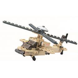 Kazi KY84023 84023 Xếp hình kiểu Lego FIELD ARMY Field Troops Apache Helicopter Trực Thăng Tấn Công 97 khối