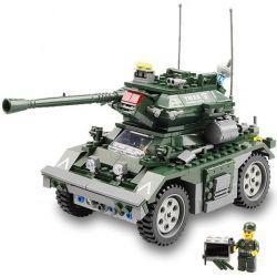 Kazi KY84003 84003 Xếp hình kiểu Lego FIELD ARMY Field Army Czech Armored Field Troops Czech Armored Vehicle Xe Bọc Thép Của Séc 351 khối