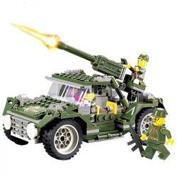 Kazi KY84002 84002 Xếp hình kiểu Lego FIELD ARMY Field Army IronHorse Jeep Field Troops Iron Majeep 野战部队 铁马吉普车 241 khối