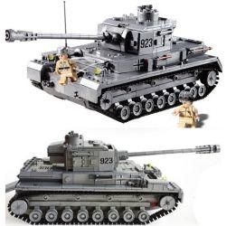 Kazi KY82010 82010 Xếp hình kiểu Lego Century Military PANZERKAMPFWAGEN IV Century Military German Armored Troops Tank F2 Type Xe Tăng Đức Con Báo 4 1193 khối