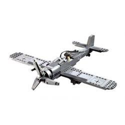 Kazi KY82005 82005 Xếp hình kiểu Lego Century Military FW190 Fighter Plane Century Military German Air Force Baibai Bird Fighter Máy Bay Chiến đấu 299 khối