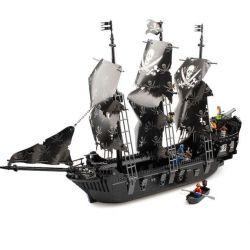 Kazi KY87010 87010 Xếp hình kiểu Lego PIRATES OF THE CARIBBEAN PiratesKing BlackPearl Pirate Kingdom Black Pearl Pirate Ship Tàu Ngọc Trai Đen 1184 khối