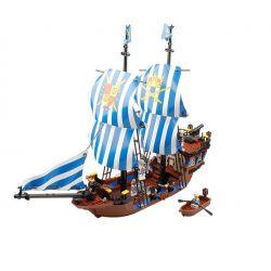 Kazi KY87011 87011 Xếp hình kiểu Lego PIRATES OF THE CARIBBEAN Armada Flagship Tàu Chiến Chống Hải Tặc 608 khối