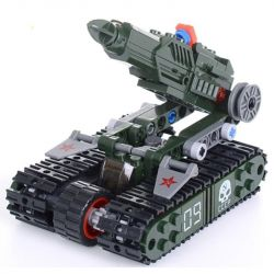 Kazi KY81012 81012 Xếp hình kiểu Lego RED ALERT 3 RED ALERT 3 V4 Rocket Launcher Red Warning Xe Phóng Tên Lửa Bánh Xích 170 khối