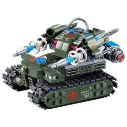 Kazi KY81002 81002 Xếp hình kiểu Lego RED ALERT 3 RED ALERT 3 TTNK Red Warning Magnetic Storm Tank Xe Tăng Phát Sóng điện Từ 262 khối