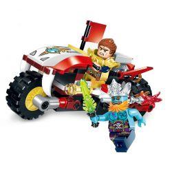 Enlighten 2202 Qman 2202 Xếp hình kiểu Lego CREATION OF THE GODS God Battle Xiao Tianzhu Xe Mô Tô Chó Săn Của Dương Tiễn 116 khối