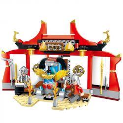 Enlighten 2205 Qman 2205 Xếp hình kiểu Lego CREATION OF THE GODS Weapon Workshop God Battle Refiner Temple Xưởng Chế Tạo Vũ Khí 242 khối