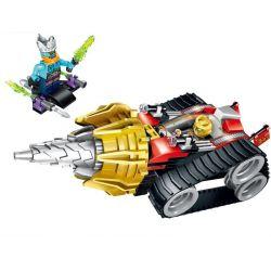 Enlighten 2208 Qman 2208 Xếp hình kiểu Lego CREATION OF THE GODS Earth Driller God Battle Broken Armored Vehicle Cỗ Xe Khoan đất 171 khối