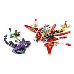 Enlighten 2209 Qman 2209 Xếp hình kiểu Lego CREATION OF THE GODS Red Dragon God Battle Proud Dragon Rồng Lửa Của Hoàng Phi Hổ 325 khối