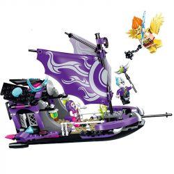 Enlighten 2210 Qman 2210 Xếp hình kiểu Lego CREATION OF THE GODS Evil Queen's Boat God Battle 妲 妲 Du Thuyền Của Đát Kỷ 312 khối