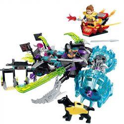 Enlighten 2212 Qman 2212 Xếp hình kiểu Lego CREATION OF THE GODS Demon Blade Truck God Battle Bloody Xe Lưỡi đao 314 khối