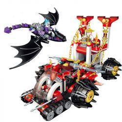 Enlighten 2215 Qman 2215 Xếp hình kiểu Lego CREATION OF THE GODS Commander Chariot God Battle Taikong Fleet Xe Tăng Chỉ Huy 401 khối