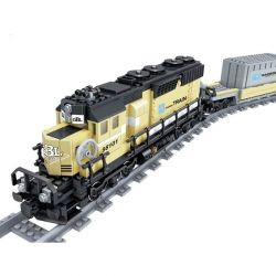 Kazi Gao Bo Le Gbl Bozhi KY98101 KY98224 (NOT Lego Creator Maersk Container Train ) Xếp hình Tàu Hỏa Chuyên Chở Có Ray Động Cơ Pin Sạc gồm 2 hộp nhỏ 1237 khối