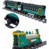 Kazi Gao Bo Le Gbl Bozhi KY98102 KY98225 (NOT Lego Trains Puffing Billy Steam Train ) Xếp hình Tàu Hỏa Hơi Nước Chở Khách Có Ray Động Cơ Pin Sạc gồm 2 hộp nhỏ 851 khối