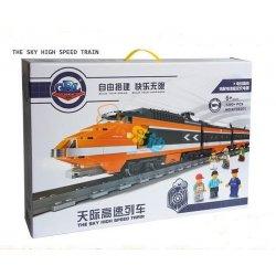 Kazi KY98201 98201 KY98223 98223 LELE 28034 Xếp hình kiểu Lego CREATOR Horizon Express Tàu Cao Tốc Có Ray động Cơ Pin Sạc gồm 2 hộp nhỏ 1351 khối có động cơ pin