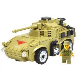 Kazi Gao Bo Le Gbl Bozhi KY98402 (NOT Lego Military Army Armored Reconnaissance Car ) Xếp hình Xe Bọc Thép Gắn Pháo 183 khối