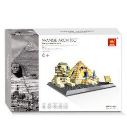 WANGE DR.LUCK 4210 7011 Xếp hình kiểu Lego MINI MODULAR The Pyramids Of Giza Egypt Giza Pyramid Đại Kim Tự Tháp Giza 624 khối