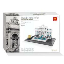 WANGE DR.LUCK 4212 7014 Xếp hình kiểu Lego ARCHITECTURE Fontanna Di Trevi Of Roman Trevi Fountain Landmark Construction Rome Wishing Pool Rome Wishing Pool Đài Phun Nước Trevi  1398 khối