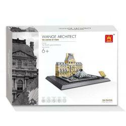 Wange 7017 4213 (NOT Lego Architecture 21024 The Louvre Of Paris ) Xếp hình Viện Bảo Tàng Louvre gồm 2 hộp nhỏ 785 khối