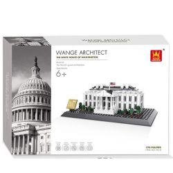 WANGE DR.LUCK 4214 7018 Xếp hình kiểu Lego ARCHITECTURE The White House The White House Of Washington Landmark Construction White House, Washington, DC Nhà Trắng  1338 khối