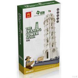 WANGE DR.LUCK 5214 8012 Xếp hình kiểu Lego ARCHITECTURE The Leaning Tower Of Pisa Landmark Building Leaning Tower, Italy, Tower, Italy Tháp Nghiêng Pisa  1737 khối