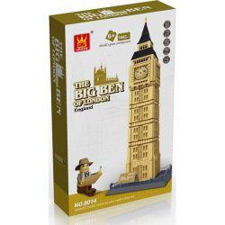 Wange Dr.Luck 5216 8014 Xếp hình kiểu LEGO Mini Modular The Big Ben of London、Elizabeth Tower Tháp đồng Hồ Big Ben 1642 khối