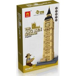 WANGE DR.LUCK 5216 8014 Xếp hình kiểu Lego MINI MODULAR The Big Ben Of London、Elizabeth Tower Big Ben, London, UK, Elizabeth Tower Tháp đồng Hồ Big Ben 1642 khối
