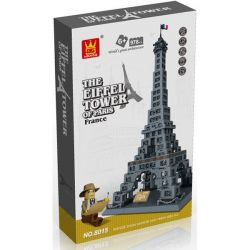 Wange 8015 5217 (NOT Lego Architecture 21019 The Eiffel Tower ) Xếp hình Tháp Eiffel gồm 2 hộp nhỏ 978 khối