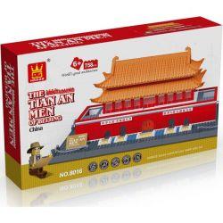 Wange 8016 5218 (NOT Lego Architecture The Tian An Men ) Xếp hình Quảng Trường Thiên An Môn gồm 2 hộp nhỏ 758 khối
