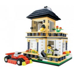 WANGE DR.LUCK 31051 Xếp hình kiểu Lego CITY INN CityInn Small Villa Series A Biệt Thự Màu Kem 405 khối