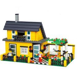 WANGE DR.LUCK 32051 Xếp hình kiểu Lego CITY INN CityInn Ordinary Villa Series A Biệt Thự Có Vườn 449 khối