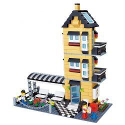 WANGE DR.LUCK 32053 Xếp hình kiểu Lego CITY INN CityInn Ordinary Villa Series C Three Layers Of Foreign Buildings Biệt Thự 3 Tầng 546 khối